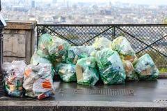 Torba na śmiecie przy Montmartre Obrazy Stock