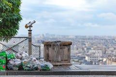 Torba na śmiecie przy Montmartre Fotografia Stock