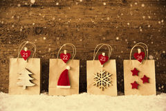 Torba Na Zakupy Z Bożenarodzeniową dekoracją, Instagram filtr, płatki śniegu Zdjęcie Royalty Free