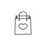 Torba na zakupy z kierową ikoną Zdjęcia Royalty Free