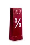 Torba na zakupy z procentu symbolem Zdjęcia Royalty Free