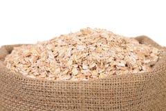 Torba oatmeal płatki. Zakończenie up. fotografia stock