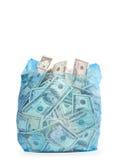 torba pieniądze Obrazy Royalty Free