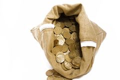 torba pieniądze Zdjęcia Royalty Free