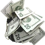 torba pieniędzy Zdjęcie Stock