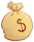 torba pieniędzy Obrazy Royalty Free