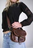 torba pieniędzy kobieta zatrzasku od pasa Obraz Stock