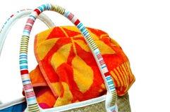 torba ręcznik na plaży Obrazy Royalty Free
