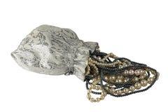 Torba z obwieszeniem nici perłami Obrazy Royalty Free