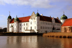 Torbenfeldt Palace. Zealand Denmark. Torbenfeldt is built on a small islet in a lake. The oldest part is from the 15th century royalty free stock image