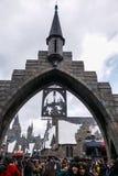 Torbogen der Wizarding-Welt von Harry Potter Stockfotos