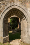 Torbogen des Schlosses Schaumburg - Österreich Lizenzfreie Stockfotos