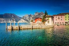 Torbole dichtbij Garda-meer stock foto