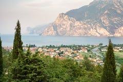 Torbole en el lago Garda Foto de archivo libre de regalías