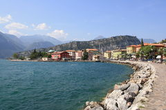Torbole on the Garda Lake Stock Image