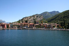 Torbole, Lake Garda, Italy. The lakeside town of Torbole in the Italian Lakes royalty free stock images