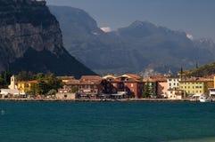 Torbole, lake Garda, Italy. The lakeside town of Torbole in the Italian Garda Lake Stock Photography