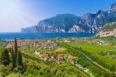 Torbole na jeziornym Gardzie, Trient, Włochy Zdjęcie Stock