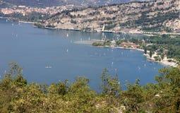 Torbole nel lago Garda Immagine Stock