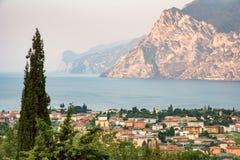 Torbole no lago Garda Imagens de Stock