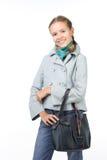 torby żakieta dziewczyna Fotografia Stock