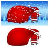 torby błękit Santa ilustracji