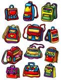 torby barwiący szkolny set Obrazy Royalty Free
