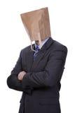 torby biznesmena głowa papier obraz royalty free
