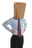 torby biznesmena głowa papier obrazy royalty free