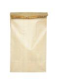 torby brąz odizolowywający papier obraz stock