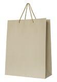 torby brąz odizolowywający papierowy biel Zdjęcie Royalty Free