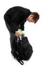 torby chłopiec kocowania szkoła Obrazy Royalty Free