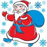 torby Claus prezenty Santa Obraz Royalty Free