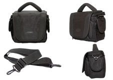 torby czarny wyposażenia fotografii wideo Obraz Stock