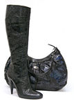 torby czerń buta pięt wysokie kobiety Zdjęcie Royalty Free