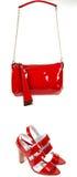 torby czerwieni buty Obrazy Stock