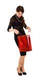 torby czerwieni kobieta obrazy stock