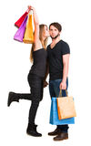 torby dobierają się szczęśliwego zakupy Obrazy Stock