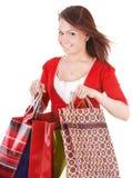 torby dziewczyny grupy mienia zakupy Zdjęcie Stock