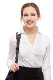 torby dziewczyny laptop Fotografia Royalty Free