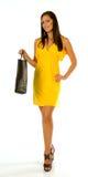 torby dziewczyny mienia zakupy potomstwa Zdjęcia Stock