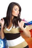 torby dziewczyny na zakupy Fotografia Royalty Free
