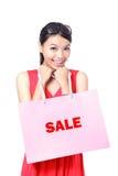 torby dziewczyny szczęśliwy mienia zakupy Zdjęcie Stock