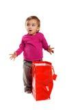 torby dziewczyny zakupy ja target3_0_ Zdjęcia Stock