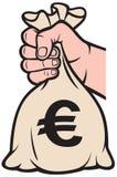 torby euro pieniądze znak Royalty Ilustracja