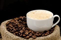 torby fasoli cappuccino kawa Fotografia Stock