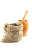 torby fasoli kawa folująca Obrazy Royalty Free