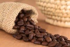torby fasoli kawy jute fotografia stock