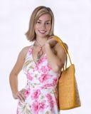 torby femme na plaży Zdjęcia Stock