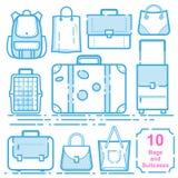 Torby i walizki royalty ilustracja